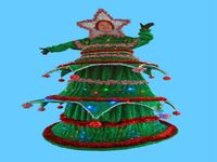 Green Christmas Tree Stilt Walker
