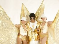 Gold Showgirls & Elvis Stilt Walkers