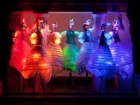 Multi Colour LED Glow Stilt Walkers