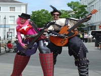 Punk Rockers Stilt Walkers