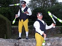 Masked Ball Jugglers for Christmas Events