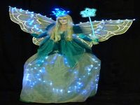Ice Christmas Fairy Stilt Walker