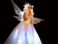 Christmas Ice Fairy Stilt Walker